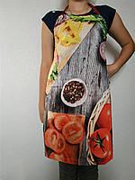 Фартук на кухню 3Д рогожка лен