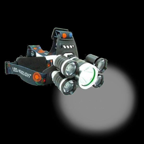 Налобный фонарик Bailong V25-T6+4XPE Черный