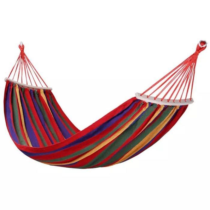 Мексиканский тканевый гамак  190*80 см с деревянной перекладиной 50 см