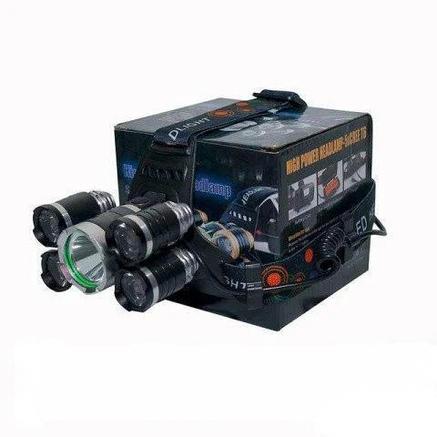 Налобный фонарик Bailong V25-T6+4XPE Черный, фото 2