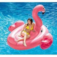 Огромный надувной плот розовый фламинго INTEX 203×196×121 см