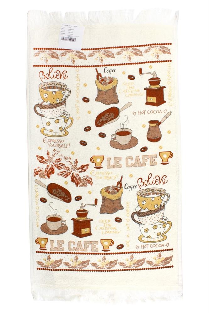 Кухонное полотенце махровое Issi Home 40х60 Ле Кафе