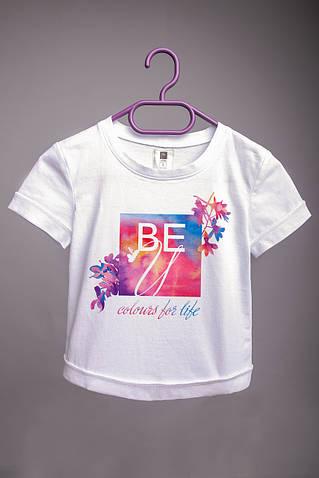 Детская футболка с принтом BEU (логотип)