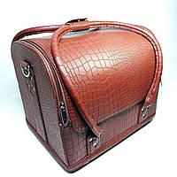 Б'юті кейс для майстра органайзер коричневий