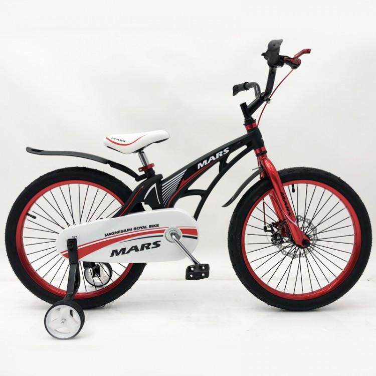 Велосипед детский Mars 20 от 6 лет | Магниевая рама, складной руль