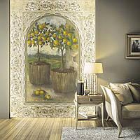 """Фотообои на декоративной гибкой штукатурке """"Лимонные деревья"""""""