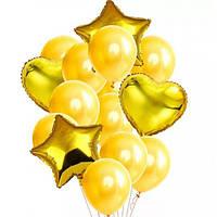 Набор шариков (уп.14шт) золото