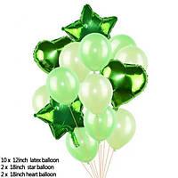 Набор шариков (уп.14шт.) зелёный