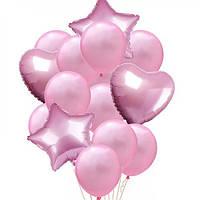 Набор шариков (уп.14шт.) розовый