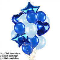 Набор шариков (уп.14шт.) синий