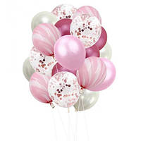 Набор шариков (уп.20шт.) розовый