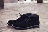 Зимние ботинки дезерты мужские черные замшевые размер 40, 41, 42, 43, 44, 45, фото 3