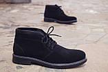 Зимние ботинки дезерты мужские черные замшевые размер 40, 41, 42, 43, 44, 45, фото 4