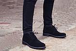 Зимние ботинки дезерты мужские черные замшевые размер 40, 41, 42, 43, 44, 45, фото 5