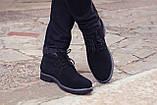 Зимние ботинки дезерты мужские черные замшевые размер 40, 41, 42, 43, 44, 45, фото 6