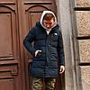 Зимняя мужская куртка парка  длинная The North Face синяя M и XL