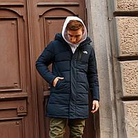 Зимняя мужская куртка парка  длинная The North Face синяя M и XL, фото 1