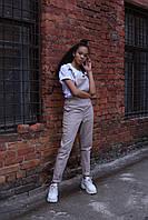 Комбинезон женский бежевый бренд ТУР модель Jennie (Дженни) размер  XS, S, M, L, фото 1