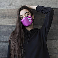 "Маска унисекс розовая маска для лица ""Цветы"" женская"