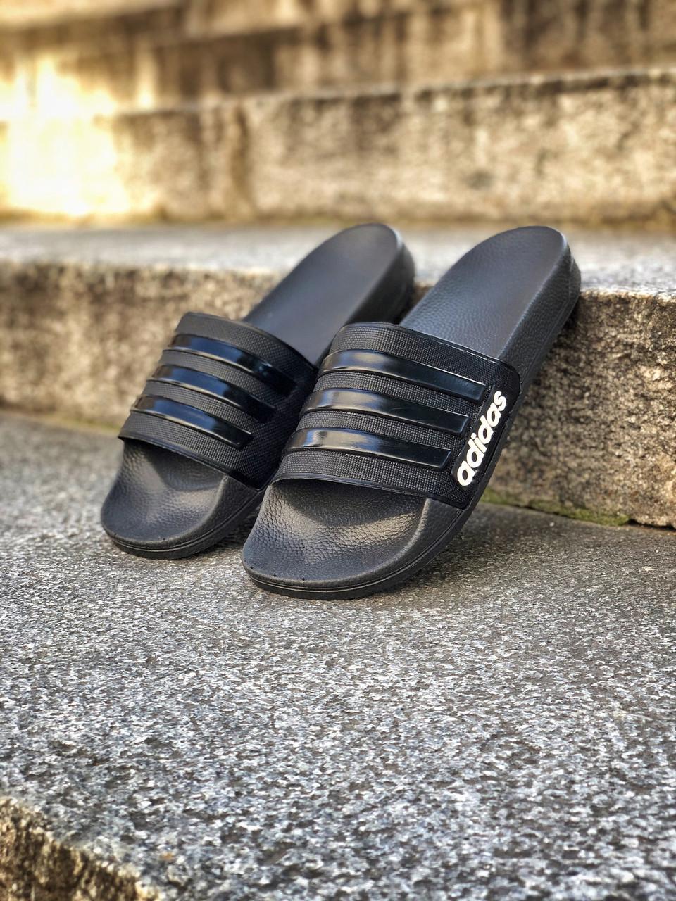 Мужские тапочки Adіdas Black