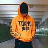 Худи оранжевое мужское Токио Размеры: XS, S, M, L, XL