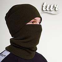 Зимняя шапка хаки унисекс Бран (Bran) от бренда ТУР, фото 1