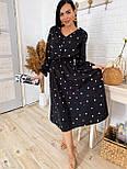 Жіноче плаття в горошок міді талія на гумці (в кольорах), фото 5
