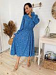 Женское платье в горошек миди талия на резинке (в расцветках), фото 2