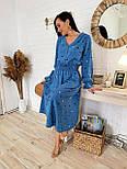Женское платье в горошек миди талия на резинке (в расцветках), фото 4