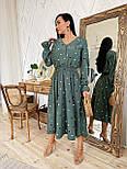 Женское платье в горошек миди талия на резинке (в расцветках), фото 8