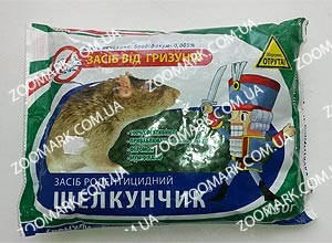 Щелкунчик зерновая приманка от грызунов банка 250 г Щелкунчик