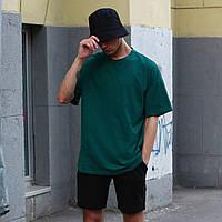 Футболка мужская зеленая Quil (Квил) бренд Тур размер XS, S, M, L, XL, фото 1
