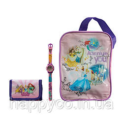 TBL Набор, часы цифровые, кошелек и сумка «Принцессы»