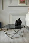 Стіл журнальний CР-1 тоноване скло + срібло хром, фото 6