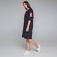 Платье-футболка женское черное бренд ТУР модель Хидеко (Hideko) размер XC, S, M, L, фото 1