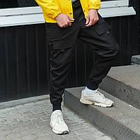 Карго штаны мужские черные, фото 1