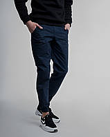 Зауженные штаны джоггеры мужские синие от бренда ТУР модель Локи (Loki) размер S, M, L, XL, фото 1