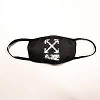 Маска унисекс черная маска для лица