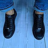 Кеды кожаные мужские черные Philipp Plein размер 40, 41, 42, 43, 44, 45, фото 2