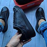 Кеды кожаные мужские черные Philipp Plein размер 40, 41, 42, 43, 44, 45, фото 3