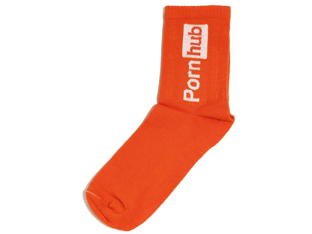 Мужские носки LOMM Premium Pornhub оранжевый
