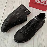 Кеды кожаные мужские черные Diesel размер 40, 41, 42, 43, 44, 45, фото 1