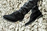 Мужские черные броги туфли из натурального замша, фото 4