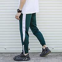 Спортивные штаны мужские зеленые с белой полоской Рокки (Rocky) от бренда ТУР, фото 1