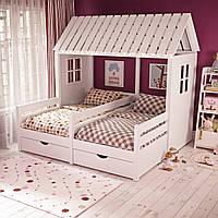 Кровать домик для двоих детей ДКД 211