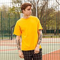 Футболка мужская жёлтая (горчичная)   Quil (Квил) бренд Тур  размер XS, S, M, L, XL, фото 1