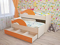 Кровать для двоих детей выкатная КДВ 8