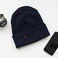 Зимняя шапка синяя унисекс Champion