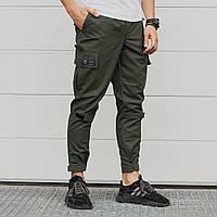 Зауженные карго штаны хаки мужские от бренда ТУР Симбиот (Symbiote) размер S, M, L, XL, XXL, фото 1