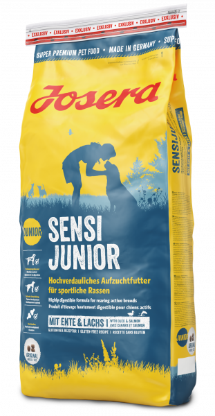 Josera Sensi Junior 0,9кг - корм для щенков средних и крупных пород с уткой и лососем